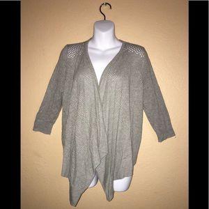 Women's fine knit open front cardigan sweater